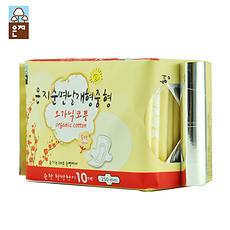 【韩国】恩芝 纯棉日用卫生巾250mm 10片
