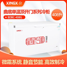 星星(XINGX)408升商用大冷柜 大容量单温冰柜 冷藏冷冻卧式雪糕柜保鲜柜BD/BC-408G