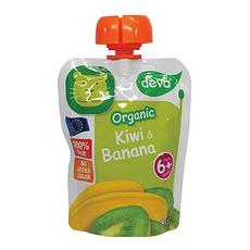 6袋装【捷克】蒂娃 猕猴桃香蕉吸吸乐果泥 婴儿果泥蔬菜泥90g/袋(香港直邮)