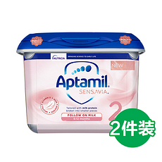 2罐 【英国】爱他美 粉金版 低敏适度水解奶粉 2段(6-12个月)800g 英国直邮