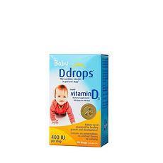 【加拿大】Ddrops 婴儿维生素D3补钙滴剂2.5ml (万博Manbetx官网仓发货)