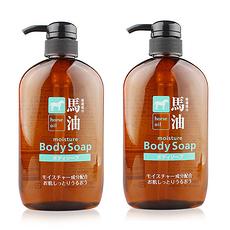 2件裝 日本 KUMANO熊野油脂 馬油沐浴露 600ML 保稅區郵