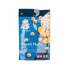 美國 嘉寶 黃桃味酸奶溶豆 28g袋 8個月以上 保稅倉發貨