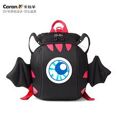 卡拉羊 小恶魔防走失反光标小童包 CX6098(黑色)(国内发货)