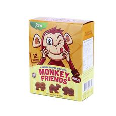 【印度尼西亚】健仕巧克力味动物形饼干 75g
