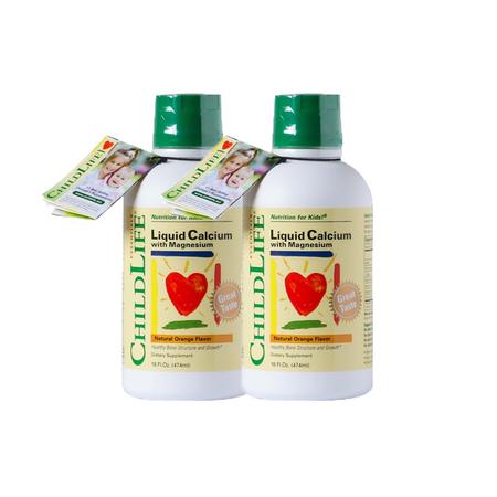 2瓶裝【美國】童年時光 Childlife 鈣鎂鋅補充液 474ml 美國直郵