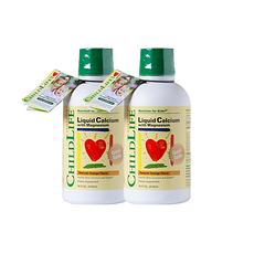 2瓶装【美国】童年时光 Childlife 钙镁锌补充液 474ml 美国直邮