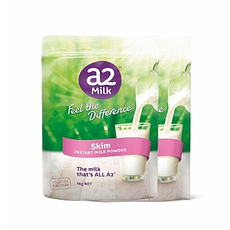 2袋【新西兰】A2 成人脱脂牛奶粉 1kg(万博Manbetx官网仓发货)