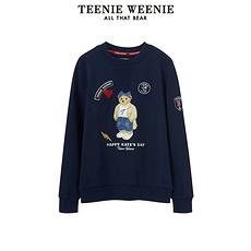 TEENIE WEENIE2020春款圆领大熊图案卫衣蓝色