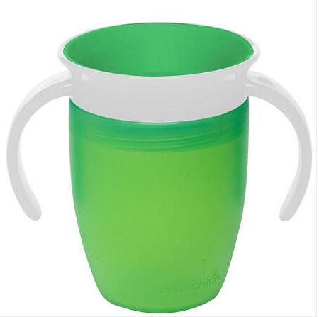 【美国】Munchkin 麦肯齐 360度训练杯  颜色随机发 207ml  美国直邮