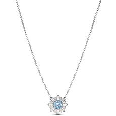 【2020新款】Swarovski 施華洛世奇 女士淺藍色花朵項鏈 5536742 香港直郵