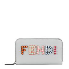 Fendi 芬迪 女士珍珠灰手拿钱包 8M0299-A13J-F10XP