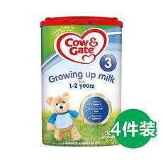 4罐【英国】牛栏 婴幼儿配方奶粉3段(1-2岁) 900g (英国直邮)
