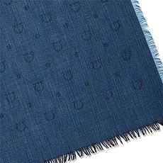 Salvatore Ferragamo 菲拉格慕 女士牛仔藍色絲巾 52-6940-658962