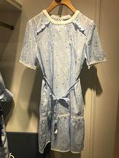 TEENIE WEENIE2020新品夏款淑女蓝色连衣裙