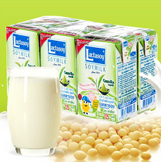 【泰國】力大獅綠茶口味豆漿飲料125ml*6