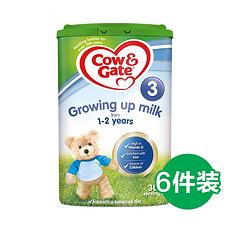 6罐【英国】牛栏 婴幼儿配方奶粉3段(1-2岁) 900g (英国直邮)