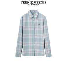 TEENIE WEENIE2020三个颜色格子衬衫淡蓝色