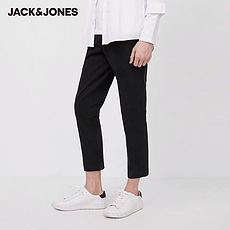 杰克琼斯2020春夏新款棉质含莱卡商务休闲九分裤
