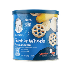 美國 嘉寶 奶油香蕉車輪泡芙 42g 保稅倉發貨