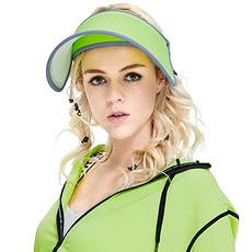 韓國 VVC 正品夏季遮陽帽出游戶外太陽帽防曬帽子女遮臉防紫外線女神帽 果綠色