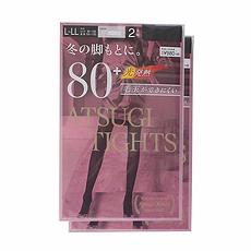 日本 ATSUGI厚木 秋冬光发热保暖连裤袜 80D 灰色 2双 L-LL 万博Manbetx官网区邮