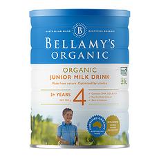 3罐装【澳大利亚】贝拉米 有机婴儿奶粉4段(3-12岁)900g (澳洲直邮)