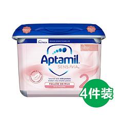 4罐 【英国】爱他美 粉金版 低敏适度水解奶粉 2段(6-12个月)800g 英国直邮