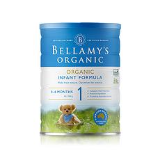 2罐裝【澳大利亞】貝拉米 有機嬰幼兒奶粉1段(0-12個月)900g/罐(保稅倉發貨)