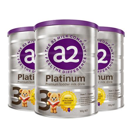 3罐裝【新西蘭】A2 白金版嬰幼兒配方奶粉3段 900g(1歲以上)900g/罐 (澳洲直郵)