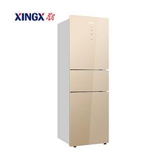 星星(XINGX)230升三门风冷无霜家用冰箱 BCD-230WPV