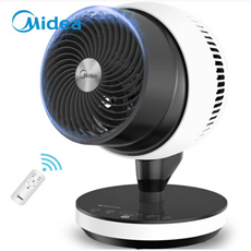 美的空氣循環扇GDC18FR                       360°機頭自動旋轉送風,送風空間更大 專設暴風模式,瞬間空氣流動 12檔循環風,隨心定制