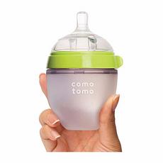 韩国 可么多么 防胀气宽口硅胶奶瓶 绿色 150ml 香港直邮