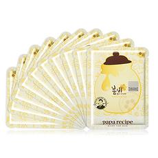 2盒装[韩国]春雨 papa recip 蜂蜜保湿补水面膜 10片/盒(新旧版随机发)