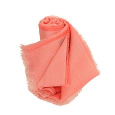 GUCCI 古馳 粉橘色純棉女士圍巾 411177-3G105-6600