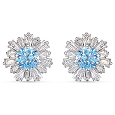 【2020新款】Swarovski 施華洛世奇 女士淺藍色花朵耳釘 5536741 香港直郵