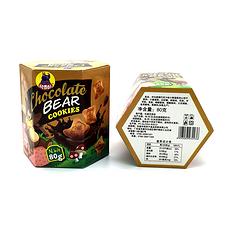 【印尼】 河马莉 巧克力味小熊造型饼夹心饼干 80g/盒