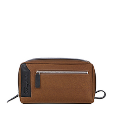 Salvatore Ferragamo 菲拉格慕 男士CAPSULE NOW系列棕色織物手拿包 24-0362-0664793