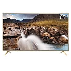 长虹(CHANGHONG)65F8 65英寸人工智能4K超高清HDR全金属轻薄语音平板LED液晶电视机(浅金色)