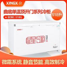 星星(XINGX)518升商用大容量卧式冰柜 冷藏冷冻转换单温大冷柜家用冰箱 BD/BC-518G