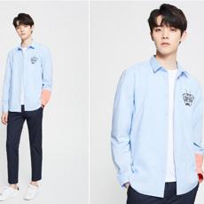 杰克琼斯2020新款潮流韩版趣味刺绣衬衫