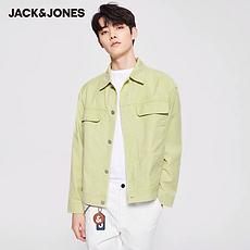 杰克琼斯2020春夏新款纯棉潮流装饰贴布牛仔外套