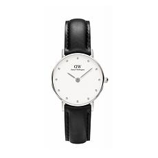 DW丹尼尔惠灵顿 女士皮带超薄石英手表DW00100068(银色26mm)(香港直邮)