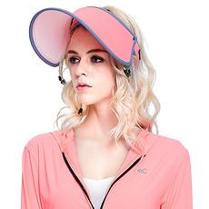 韓國 VVC 正品夏季遮陽帽出游戶外太陽帽防曬帽子女遮臉防紫外線女神帽 霓虹色