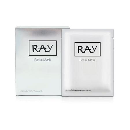 2盒装[泰国]RAY 蚕丝面膜 银色 10片/盒 补水保湿 晒后修复(香港直邮)