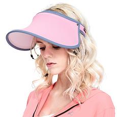 韓國 VVC 正品夏季遮陽帽出游戶外太陽帽防曬帽子女遮臉防紫外線女神帽 粉色
