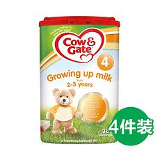 4罐【英国】牛栏 婴幼儿配方奶粉4段(2-3岁) 800g (英国直邮)