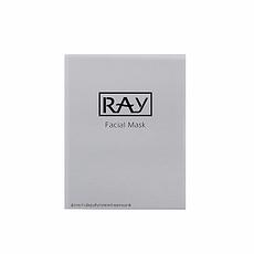 泰国 【泰版】RAY 银色补水保湿修复蚕丝面膜10片 香港直邮