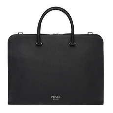 Prada 普拉達 男士黑色時尚簡約手提錢包 2VN006-2FAD-F0002-OOO