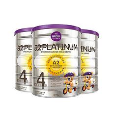3罐装【新西兰】A2 白金版婴幼儿配方奶粉4段(3岁以上)900g(万博Manbetx官网仓发货)